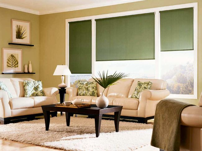 Rolete rulouri textile interioare for Living room with blinds